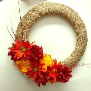 Hand made fall/ Autumn 16 inch wreath Home Decor